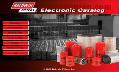 Electronic catalog of filters Baldwin Filters Electronic Catalog v1.2